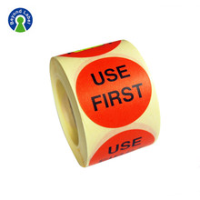 Cheap Paper roll adhesive Date Stamp labels printing for bottles packaging