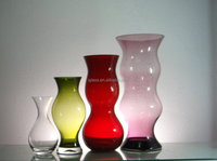 handmade cased color elegant shape glass vase