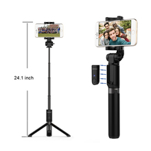 selfie stick Bluetooth Monopod Foldable Tripod stand and Remote control Extendable Alloy 360 Rotation Phone Holder forIOS/Androi