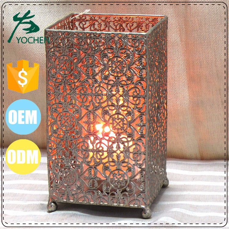 hot selling metal party decoration rose gold holder
