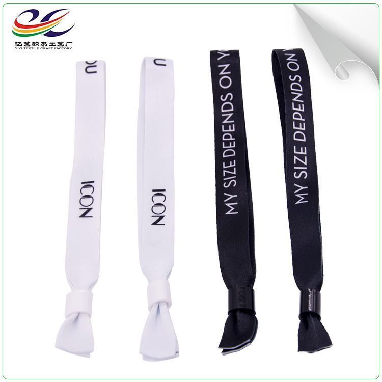 Custom popular OEM design polyester custom printed woven wristband for concert event