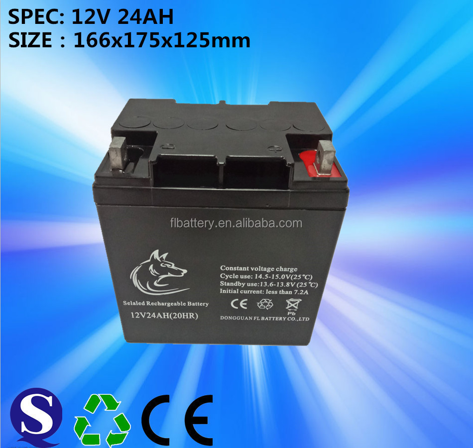UPS Usage and 12v Voltage High Capacity Solar Recycling Lead Acid UPS Batteries 12V 24AH