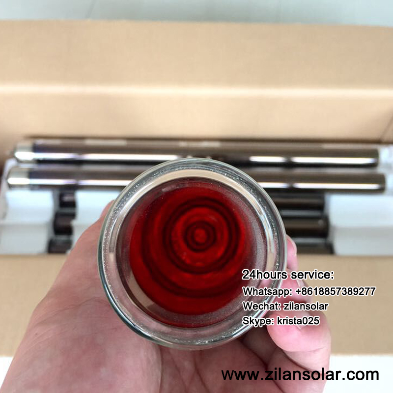 Short solar vacuum tube for mini solar water heater D58-L800MM