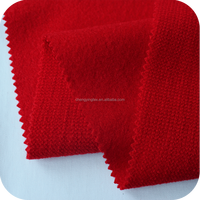Red acrylic fabric for women's jacket wool blend brushed acrylic fabric