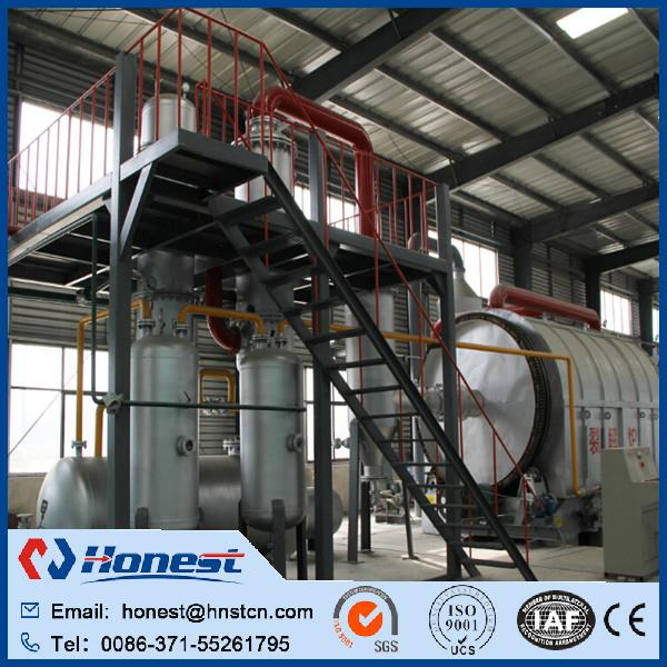 high performance waste tire to oil recycling plant supplier