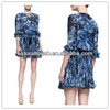 New style Tie-Neck Printed Chiffon Dress,summer dresses for women(YDQ03326)