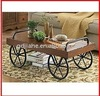 Hot!!! Antique Hall Metal Coffee Table with Wheels