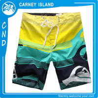 printed 4 way stretch surf wholesale board shorts custom brand mens swim trunks