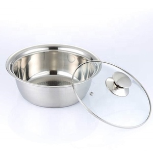 Cheap price high quality stainless steel multifunction basin Bottle sterilizer hot milk bowl with glass lid
