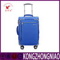 New design teenage student kid business top quality fashionable printing nylon farbic trolley luggage business luggage