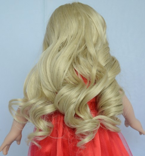 Alibaba express 2016 american girl doll wigs,human hair doll wigs,18 inch girl doll curly hair