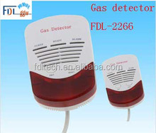 FDL-2266 LPG gas leak detector, combustible gas leakage detector with shut-off valve