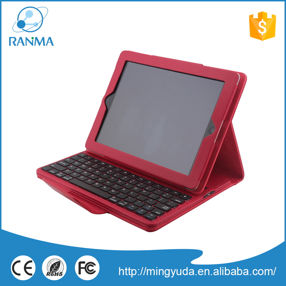 Shock Proof tablet leather thin universal bluetooth keyboard case for ipad 2/3/ 4