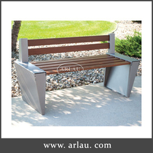 Backrest Wood Bench,Wooden Outdoor Seating