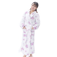 Adults coral fleece robe 100% polyester sexy sleepwear
