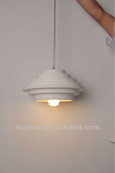 Modern gypsum plaster material ceiling hanging light 40w
