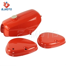 Motorcycle New Parts Fuel Tank Price Green/Red Steel Motorcycle Gas Tank for Simson * S 50, 51 and 70 with Side Cover