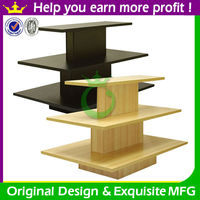 Retail wooden clothing display table for shop