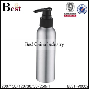 2015 Best china industry new products aluminum bottles,hot sale metal body material,lotion,water bottles/containers (pump spray)
