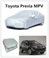 Plastic Film Auto Parts Heated Car Cover Silver 190T polyesterf Car body Cover For Toyota Previa MPV