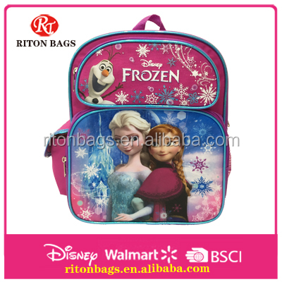 Newest Manufacturer Cute Pretty Princesses Frozen School Backpack Bags for Kids