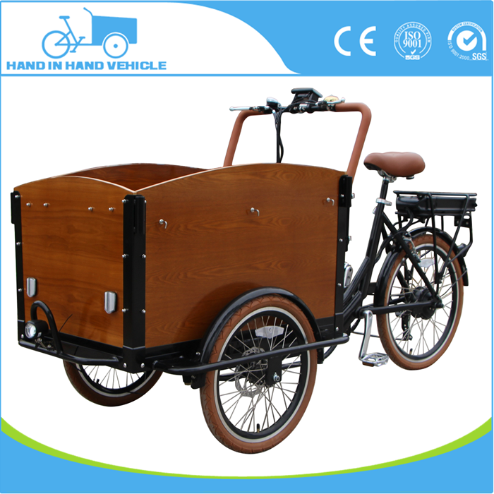 pedal assisted electric tricycle scooter for cargo