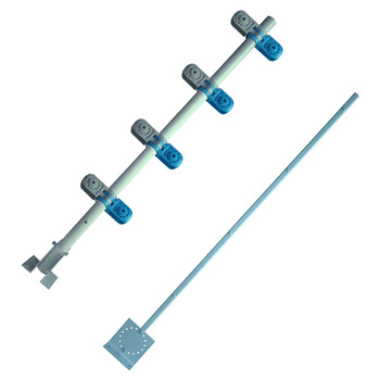 Fiberglass Post / Rod for Electric Fence System, Wall Top Fiber Glass Post, 850mm Middle Post