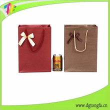 carbon paper packaging elegant paper wine bag