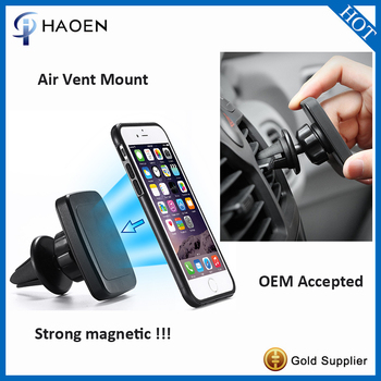 Portable Adjustable Car Air Vent Mount Holder, iHaoen Air Vent Magnetic Universal Car Mount Holder for Smartphones