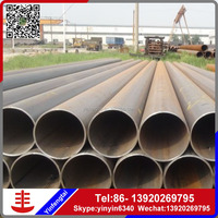 ERW round uncoated/ plastic coated steel pipe/pvc coated steel pipe