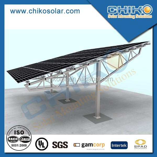 Hot Galvanized Solar Carport Photovoltaic Panel Mounting