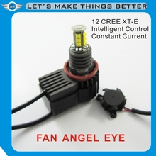 No need of decoders, Newest Canbus LED Angel Eyes H8 40W with FAN for BMW E60 E90 E87 E92 E93 12V angel eyes led headlight bulb