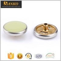 Wholesale 15mm ring four parts customized brass snap on buttons