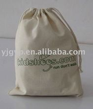HOT SALE Promotional silk screen print cotton drawstring bag