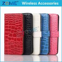 Wholesale Alibaba Mobile Phone Wallet For Samsung S6 Edge Crocodile Magnetic Pu Leather Flip Slot Cover Skin Case
