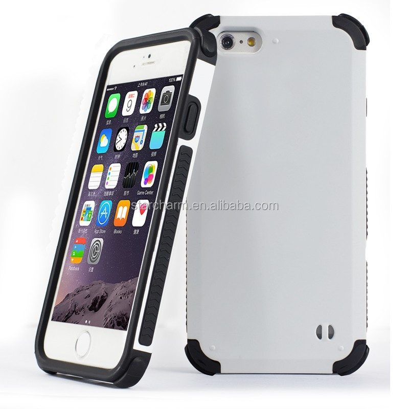 100% fit soft combo case for iphone 6 plus,kick stand case for iphone 6 plus
