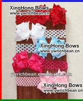 top hot-sales Girl's large bow Headband,Fashion kids' elastic Hairband with bow !new style large bow headband WH-772