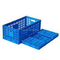 Egg transportation use plastic box foldable moving crate