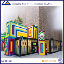2015 Fashionable Coloueful High Quality Multi Function Mobile Shopping Mall Container House