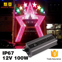 Shenzhen supplier 12v 100w waterproof power supply 24v led driver IP67