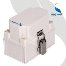 Saip/Saipwell High Quality New Design British Twist Latch Hinged Cover Solid Double Sided Electrical Boxes