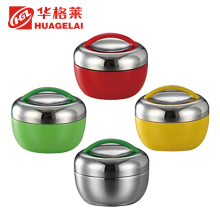 Apple shape cute stainless steel food storage container for school lunch box