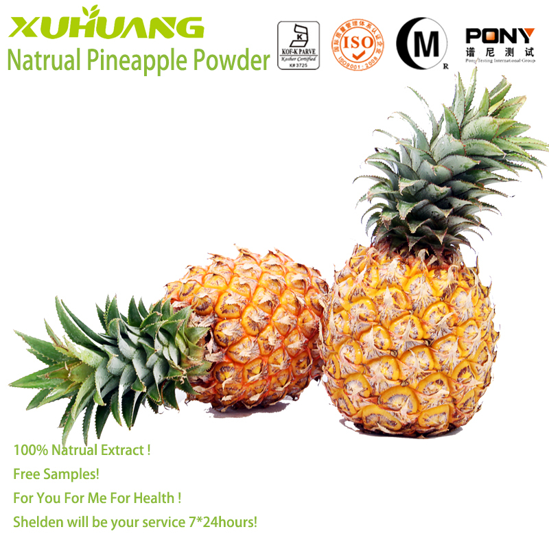 Good Water Souble Kosher Halal and ISO 9001Factory <strong>Supply</strong> <strong>100</strong>% Pure Natrual Pine apple powder