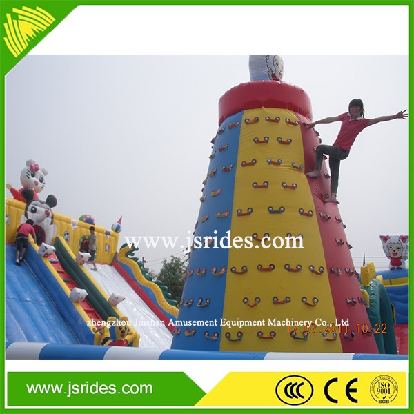 Festival inflatable Climbing Wall Mobile Rock Wall For Rental