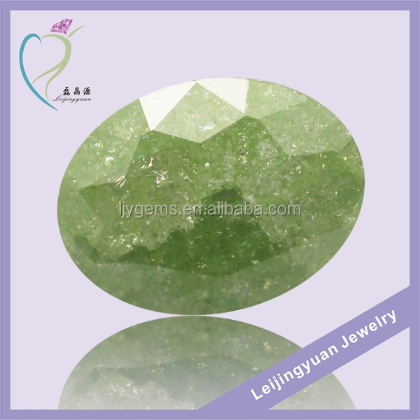Oval shape olivine ice cz rough gemstone buyers