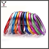 best selling car accessories colorful steering wheel cover for women