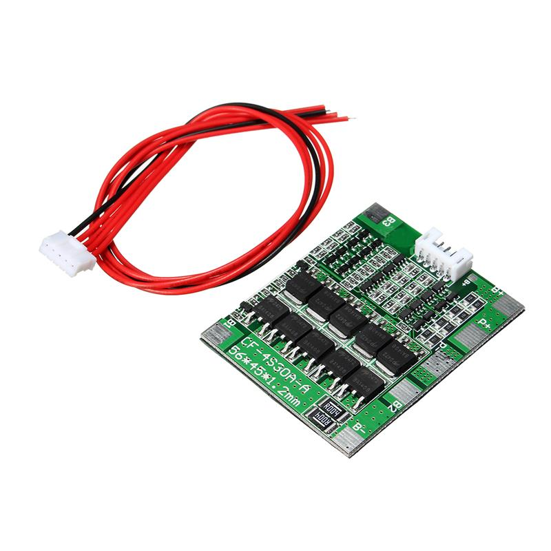 4S 30A 14.8V Li-ion Lithium 18650 Battery BMS Packs PCB Protections Board Balance Modules Boards