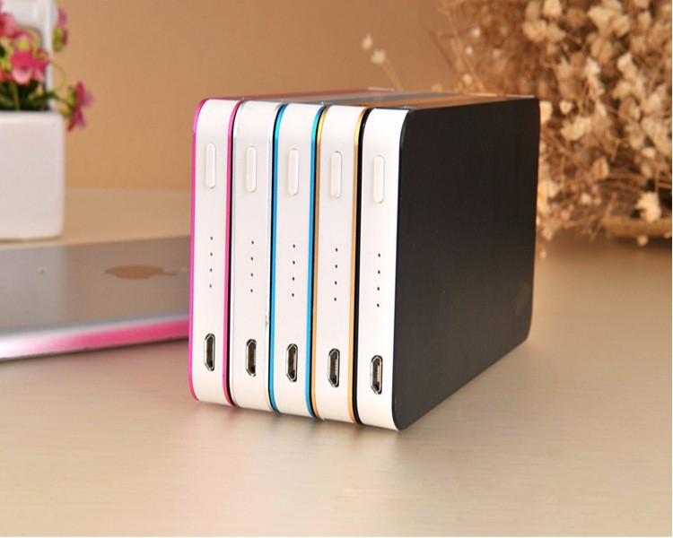 High quality 10000mAh Ultra Thin Slim Metal Power Bank with 2 USB ports
