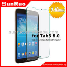 0.4mm 9H hardness anti-shatter glass screen protector for Samsung galaxy tab3 7.0 8.0 10.1