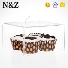 NZ M47 Factory Sale Pastry Cover Case Clear Square Acrylic Cake Cover